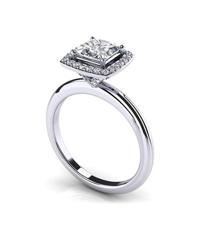 Anjolee Radiant Princess Cut Engagement Ring