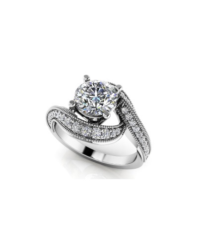 Anjolee Superb Swirl Engagement Ring