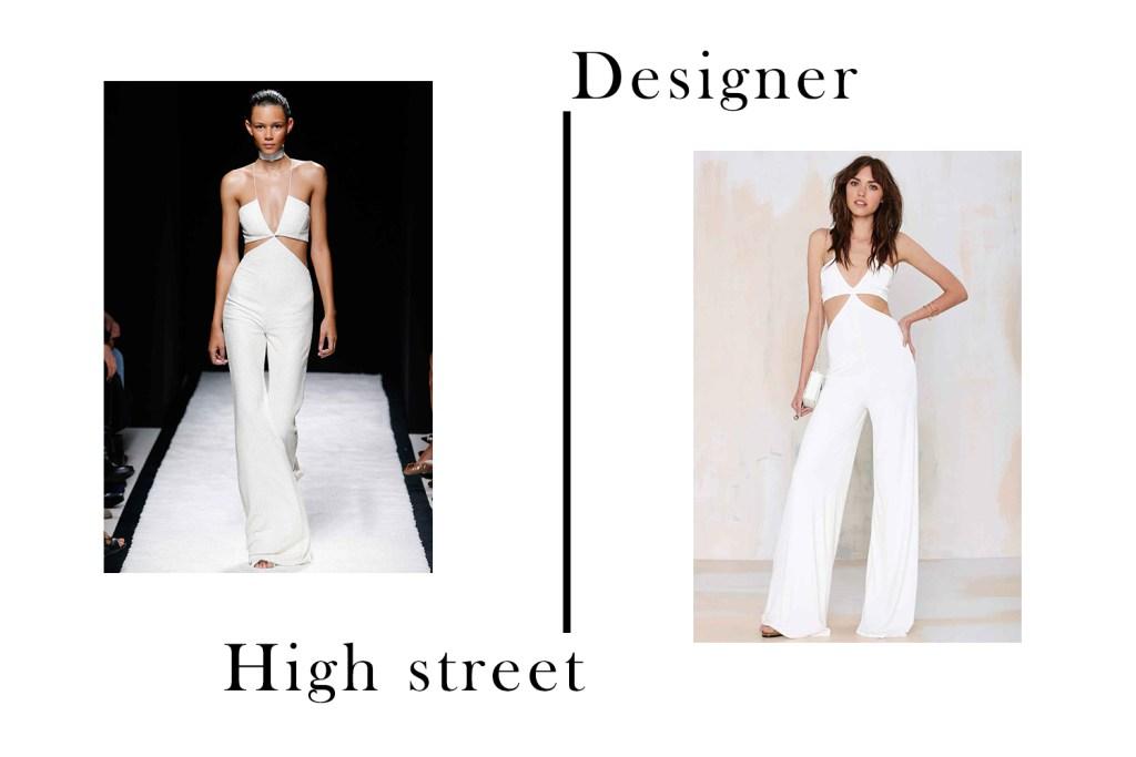 Designer vs High Street Balmain and Nasty Gal