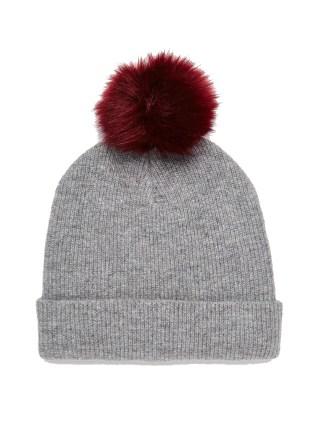 ASOS fine knit pom beanie, £12