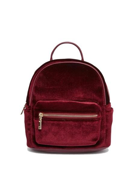Street Level, micro velvet backpack, £30