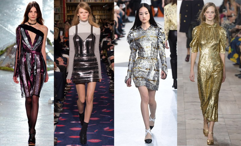 Left to right: Rodarte, Sonia Rykiel, Louis Vuitton and Michael Kors