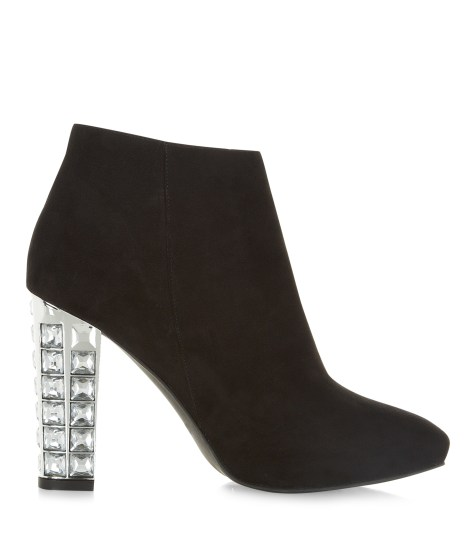 New Look, black suedette jewel boots, £39.99