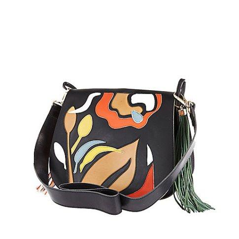 River Island retro leather saddle handbag, £75