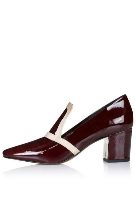 Topshop Jude patent mid heel loafers, £68