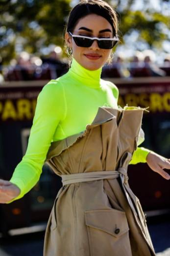 A-modern-take-on-the-classic-trench-cinched-at-the-waist-and-paired-with-a-highlter-yellow-neon