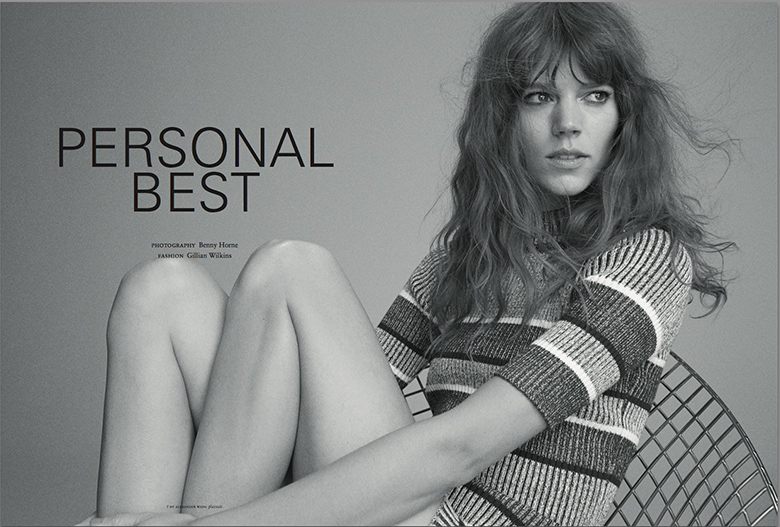 Freja Beha Erichsen for Russh Magazine June July 2014