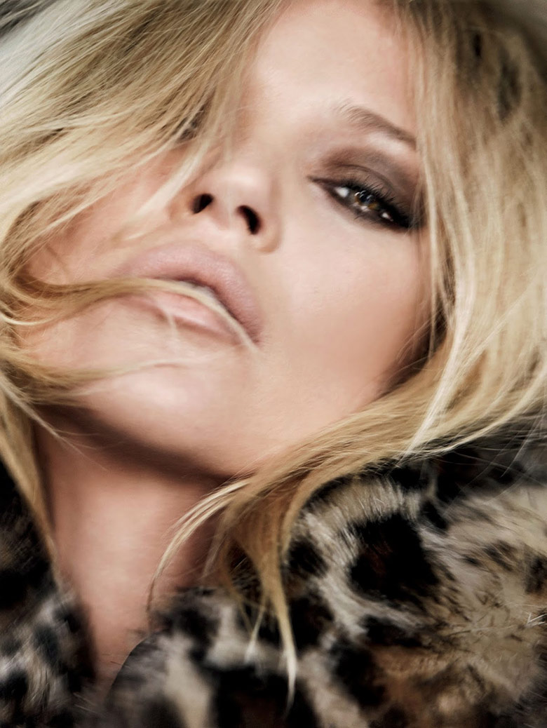 Kate Moss by Mario Testino for Vogue UK December 2014