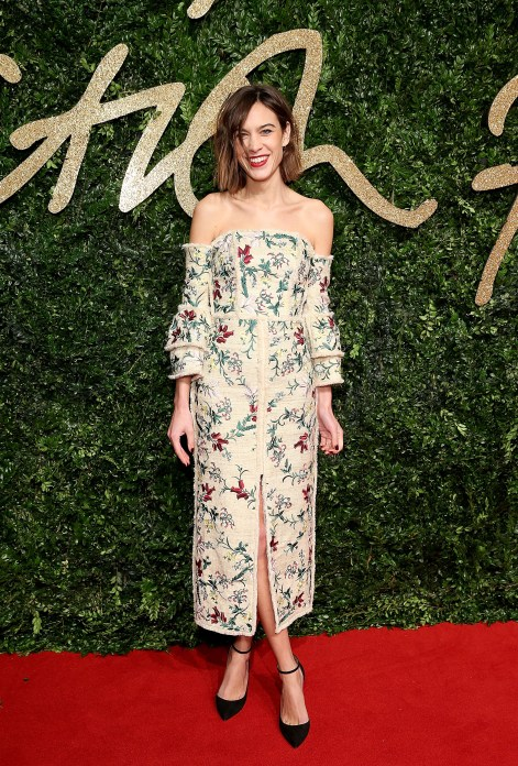 Alexa Chung attends the British Fashion Awards 2015, in partnership with Swarovski (Mike Marsland, British Fashion Council)