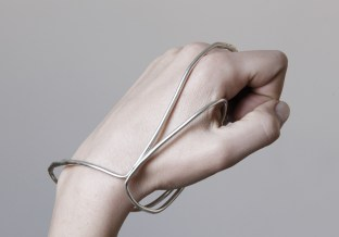 "Vanesi ""Graft"" hand cuff in silver"