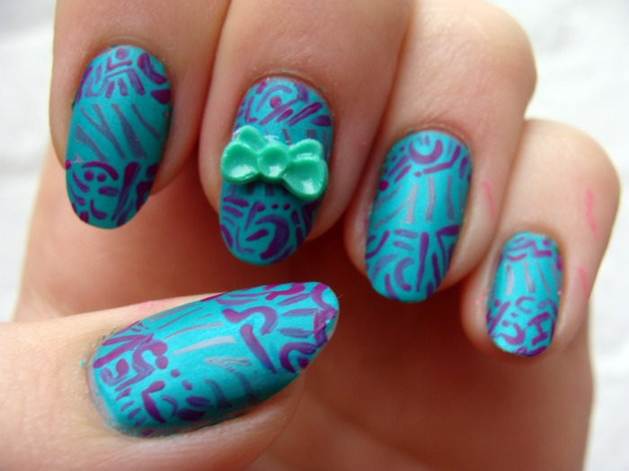 Funky Nail Art Designs Games Glitter Polish