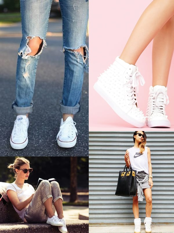 The White Sneaker Invasion  YES Or NO      The Fashion Tag Blog white sneakers