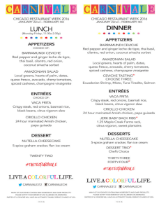 chicago restaurant menu 1