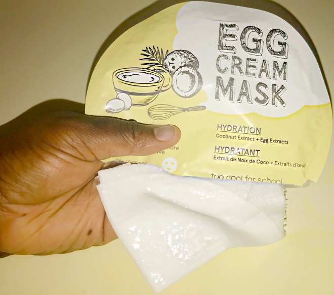 Too Cool For School's Egg Cream Hydration Mask. sephora, face mask
