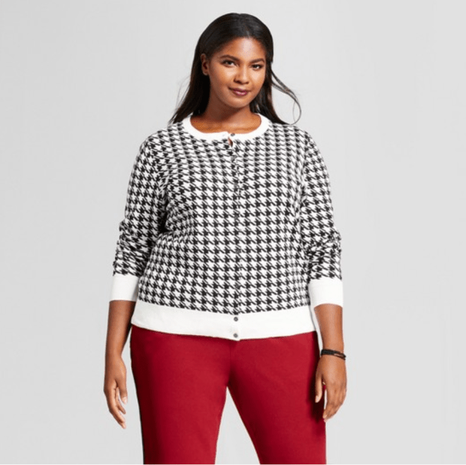 A NEW DAY | Houndstooth Print Any Day Cardigan