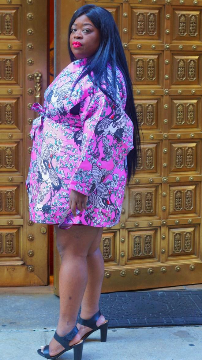 ASOS Kimono in Cherry Blossom Jacquard ....