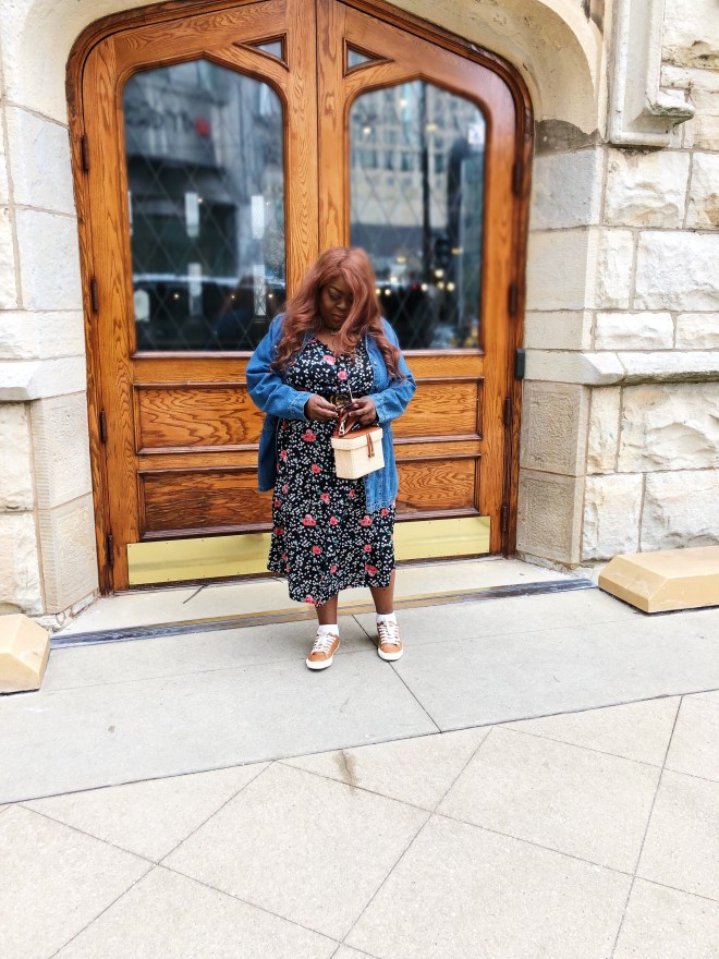 plus size dress spring brunch look