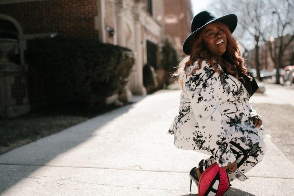 floral plus suit 2 piece suit thefatgirloffashion.com thefatgirloffashion the fat girl of fashion Rachel Roy RachelRoy