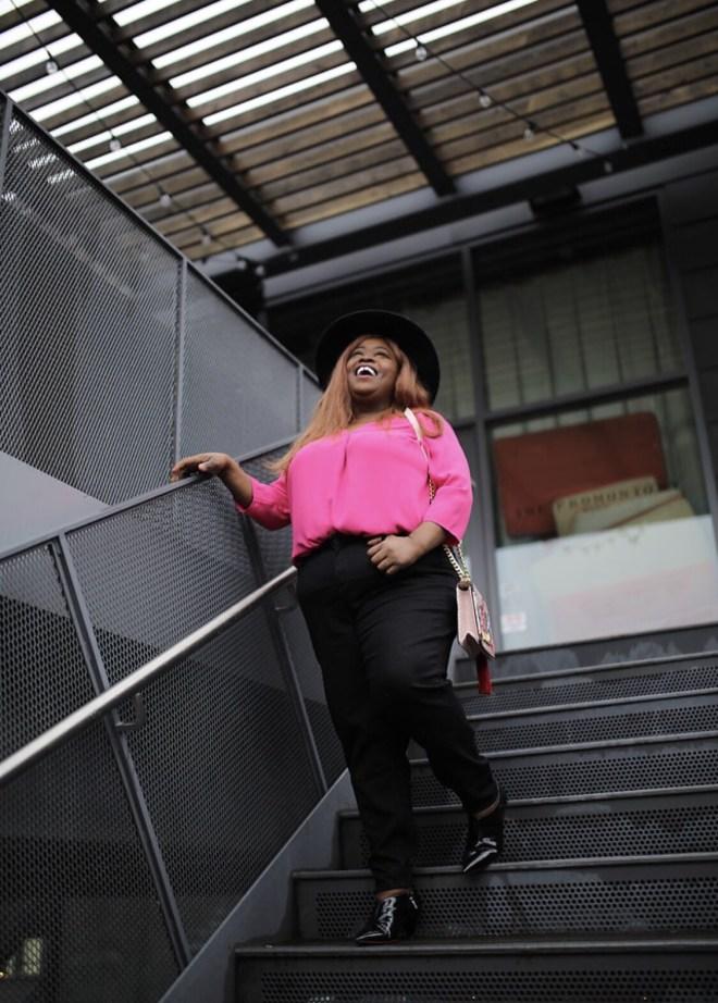 TALBOTS, PETITE PLUS, plus petite clothing, pink top, black jeans, plus size fashion, petite fashion, plus size blogger, chicago blogger
