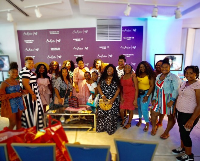 SheaMoisture's New Orleans pop-up shop, plus size polka dot dress, SheaMoisture, New Orleans, Kelly B., Essie Golden, Nikka Free, plus size blogger