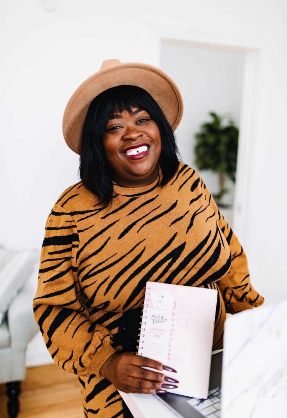 5 ways to get ready for the new year, animal print dress, new year, 2020, Chicago blogger, Women's Plus Size Jacquard Print 3/4 Sleeve Mock Turtleneck Intarsia Sweater Midi Dress - Who What Wear
