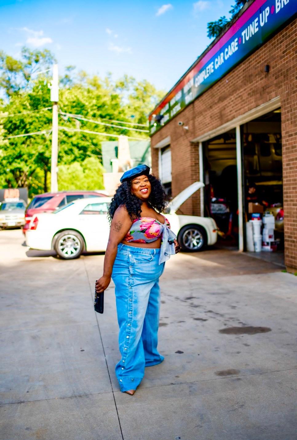 plus-size fashion, thefatgirloffashion, Fashion To Figure Garnerstyle Hotline Tearaway Jeans