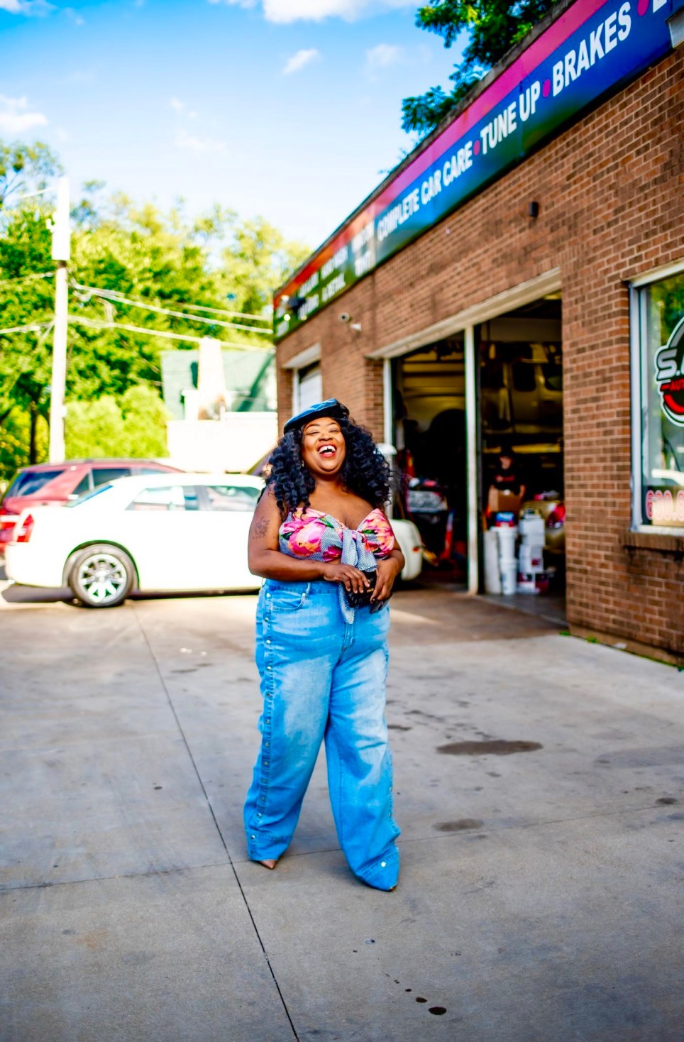 plus-size fashion, thefatgirloffashion, FTF Garnerstyle Hotline Tearaway Jeans