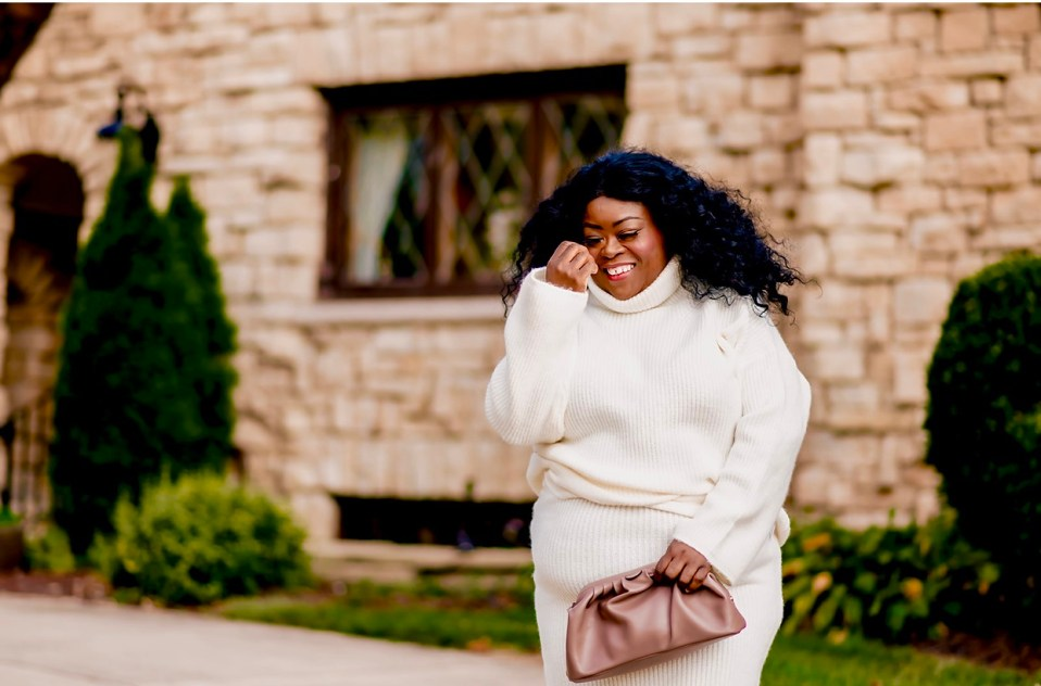 plus-size Sweater set