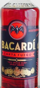 Bacardi Carta Fuego rum review by the fat rum pirate