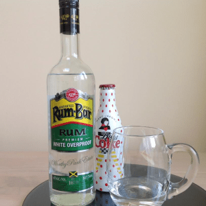 Rum-Bar White Overproof rum review by the fat rum pirate
