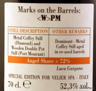 Diamond and Port Morant Velier 1999 rum review by the fat rum pirate