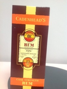 Cadenhead's FSPD Fiji South Pacific Distillery Aged 13 Years Rum Review by the fat rum pirate