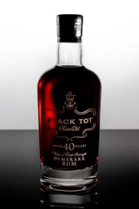 BLACK TOT 40 Year Old Demerara Rum Review by the fat rum pirate