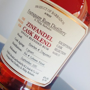 Foursquare zinfandel cask blend rum review by the fat rum pirate
