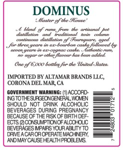 Foursquare Rum Distillery Dominus Rum Review by the fat rum pirate
