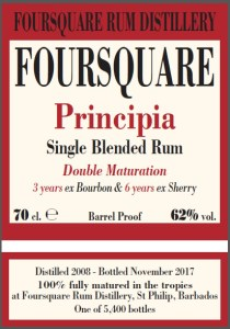 Foursquare Rum Distillery Principia Rum review by the fat rum pirate
