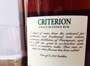 Foursquare Rum Distillery Criterion rum review by the fat rum pirate