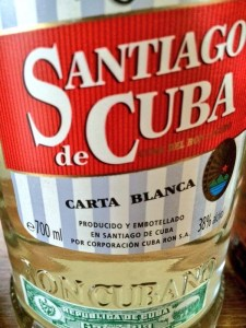 Santiago de Cuba Carta Blanca rum review by the fat rum pirate