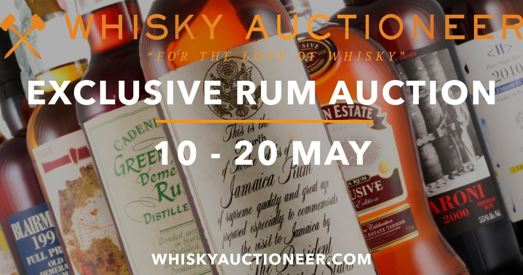 Whisky Auctioneer Rum Auction 10th 20th May 2019