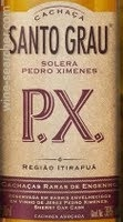 Cachaca Santo Grau P.X. Solera Pedro Ximenez Rum Review by the fat rum pirate