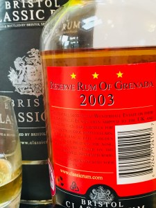 Bristol Classic Rum Reserve Rum of Grenada Distilled in 2003 Rum review by the fat rum pirate