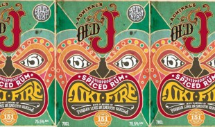 Old J 151 Overproof Spiced Rum Tiki Fire rum review by the fat rum pirate