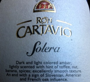Ron Cartavio Solera Aged 12 Years rum review by the fat rum pirate