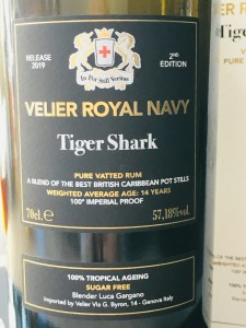Velier Royal Navy Tiger Shark rum review by the fat rum pirate