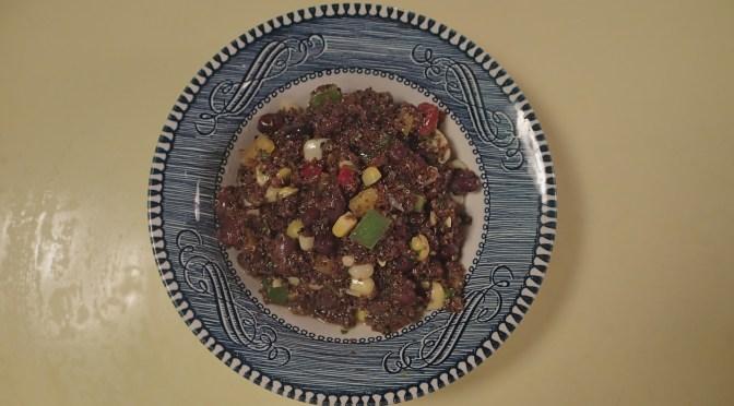 Kaniwa and black bean salad