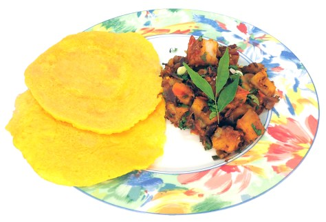 Nepali Moong Roti and Potato Curry