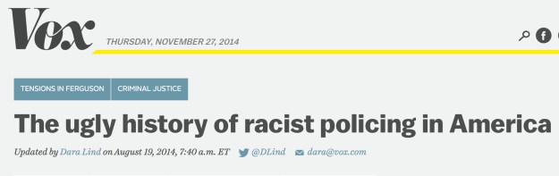 Ugly history of racist policing