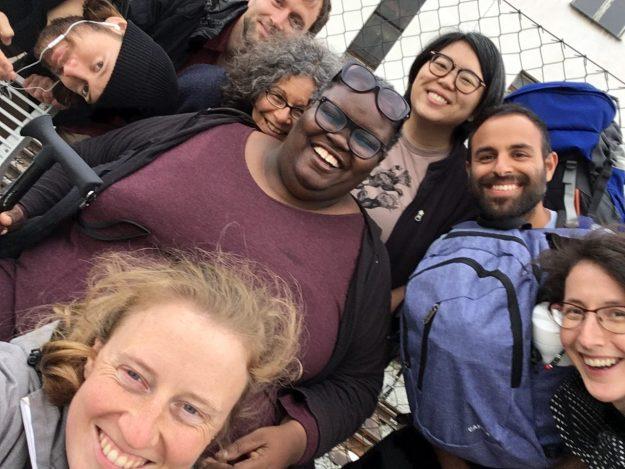 Traveling group together
