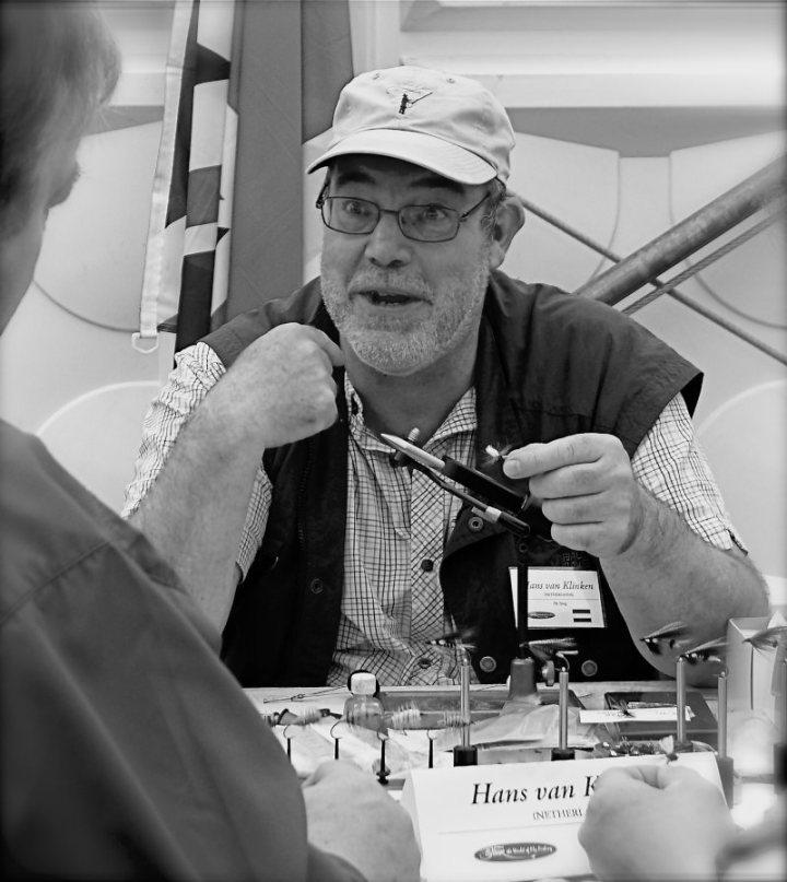 Hans van Klinken on fly tying fair
