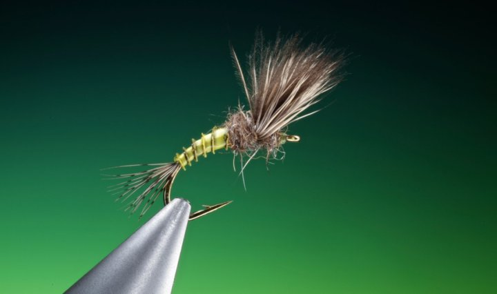 fly tying CDC and deer hair emerger